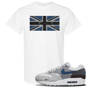 Air Max 1 'London City Pack' Sneaker White T Shirt | Tees to match Nike Air Max 1 'London City Pack' Shoes | Union Jack Flag