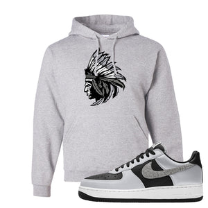 Air Force 1 3M Snake Hoodie | Indian Chief, Ash