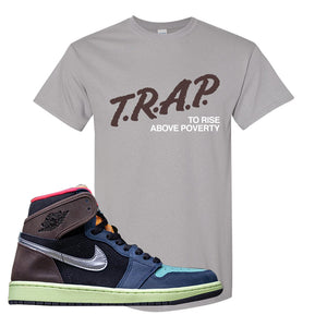 Air Jordan 1 Retro High OG 'Bio Hack' T Shirt | Gravel, Trap To Rise Above Poverty