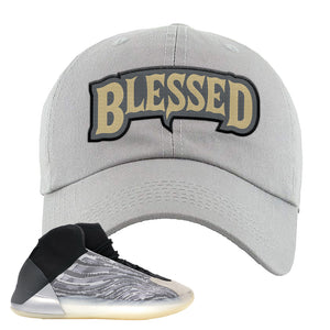 Yeezy Quantum Dad Hat | Light Gray, Blessed Arch