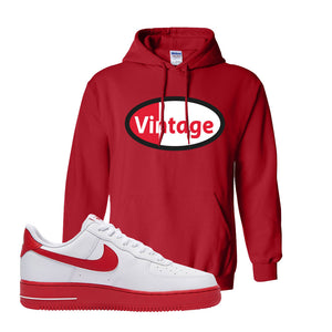 Air Force 1 Low Red Bottoms Hoodie | Red, Vintage Oval