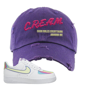 Air Force 1 Low Easter Distressed Dad Hat | Lavender, Cash Rules