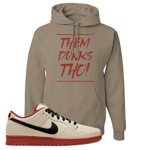 SB Dunk Low Muslin Hoodie | Them Dunks Tho, Khaki