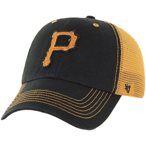 Pittsburgh Pirates Mesh-Back Trucker Stretch Fit Hat