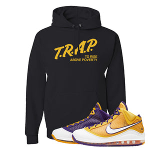 Lebron 7 'Media Day' Hoodie | Black, Trap To Rise Above Poverty