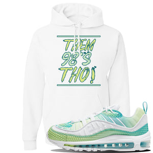 WMNS Air Max 98 Bubble Pack Sneaker White Pullover Hoodie | Hoodie to match Nike WMNS Air Max 98 Bubble Pack Shoes | Them 98's Tho