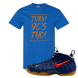 Air Foamposite Pro USA T Shirt | Royal Blue, Them 90's Tho