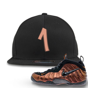 Foamposite Pro Hyper Crimson Sneaker Hook Up Number 1 Black Snapback