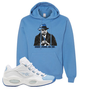 Question Low Carolina Blue Hoodie | Capone Illustration, Carolina Blue