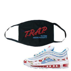 Air Max 97 GS SE Cherry Face Mask | Trap To Rise Above Poverty, Black