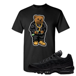 Air Max 95 Essential Black/Dark Grey/Black Sneaker Black T Shirt | Tees to match Nike Air Max 95 Essential Black/Dark Grey/Black Shoes | Sweater Bear