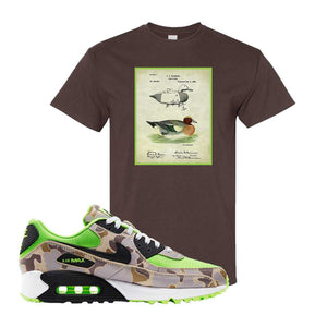 Air Max 90 Duck Camo Ghost Green T Shirt | Dark Chocolate, Decoy Duck