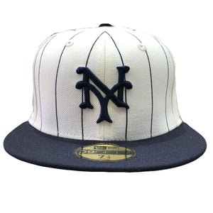 Embroidered on the front of the 1922 New York Giants World Series Fitted Cap is the New York Giants logo embroidered in navy blue