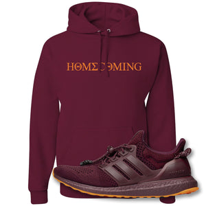 Homecoming Maroon Pullover Hoodie to match Ivy Park X Adidas Ultra Boost Sneaker