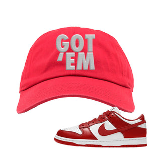 SB Dunk Low St. Johns Dad Hat | Got Em, Red