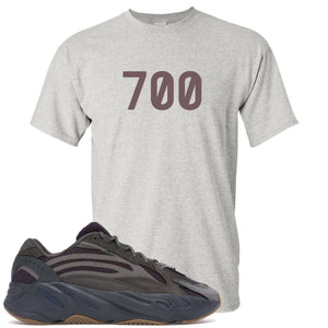 "Yeezy Boost 700 Geode Sneaker Hook Up ""700"" Sports Gray T-Shirt"