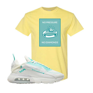 Air Max 2090 Pristine Green T Shirt | Cornsilk, No Pressure No Diamond