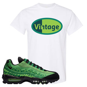 Air Max 95 Naija T Shirt | Vintage Oval, White