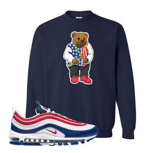 Air Max 97 USA Crewneck | Navy Blue, Sweater Bear