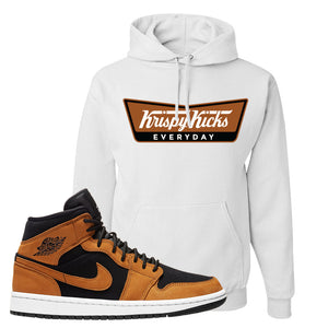 Air Jordan 1 Mid Wheat Hoodie | Krispy Kicks, White
