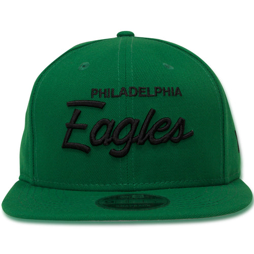 Philadelphia Eagles Retro Script Kelly Green 9Fifty Snapback Hat