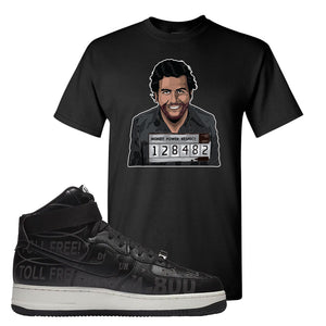 Air Force 1 High Hotline T Shirt | Escobar Illustration, Black