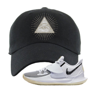 Kyrie Low 3 Dad Hat | Black, All Seeing Eye