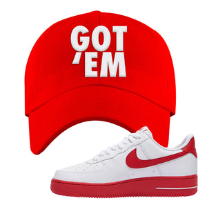 Air Force 1 Low Red Bottoms Dad Hat | Red, Got Em