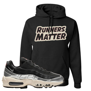 3M x Nike Air Max 95 Silver and Black Pullover Hoodie | Runners Matter, Black