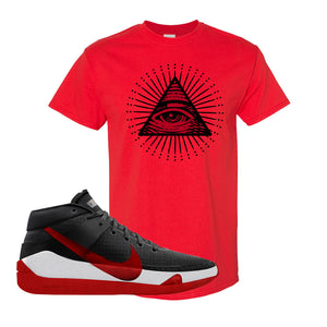 KD 13 Bred T-Shirt | All Seeing Eye, Red