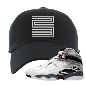 Air Jordan 8 Beetroot Dad Hat | Jordan 11 23, Black