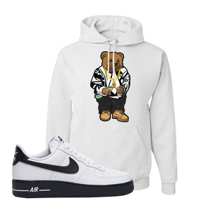 Air Force 1 Low White Black Hoodie | White, Sweater Bear
