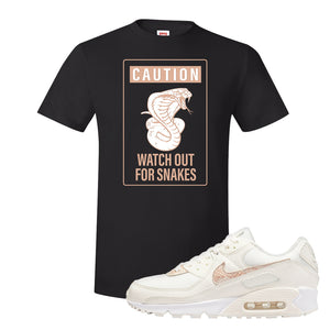 Air Max 90 Beige Snakeskin T Shirt | Caution Snakes, Black