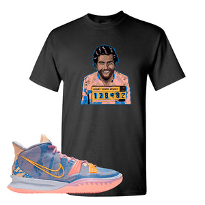 Kyrie 7 Expressions T-Shirt | Escobar Illustration, Black