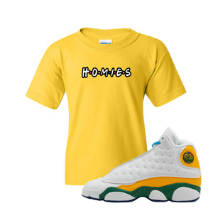 Homies Gold Kid's T-Shirt to match Air Jordan 13 GS Playground Kids Sneakers