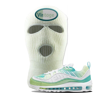 WMNS Air Max 98 Bubble Pack Sneaker White Ski Mask | Winter Mask to match Nike WMNS Air Max 98 Bubble Pack Shoes | Vintage Oval