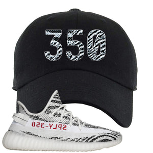 Yeezy Boost 350 V2 Zebra 350 Black Sneaker Hook Up Dad Hat