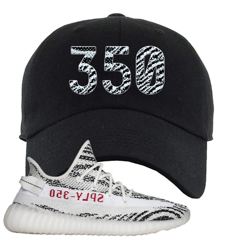 Yeezy 350 V2 Zebra Dad Hat | Black, 350