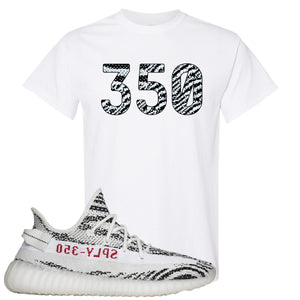 Yeezy Boost 350 V2 Zebra 350 White Sneaker Hook Up T-Shirt
