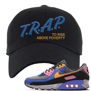 Air Force 1 Low Daisy Dad Hat | Black, Trap To Rise Above Poverty