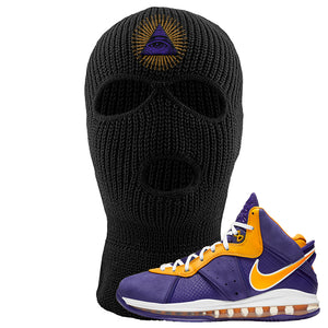 Lebron 8 Lakers Ski Mask | All Seeing Eye, Black
