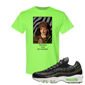 Air Max 95 Black / Electric Green T Shirt | God Told Me, Neon Green