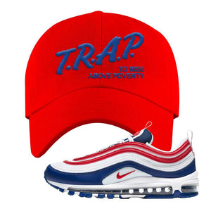 Air Max 97 USA Dad Hat | Red, Trap To Rise Above Poverty
