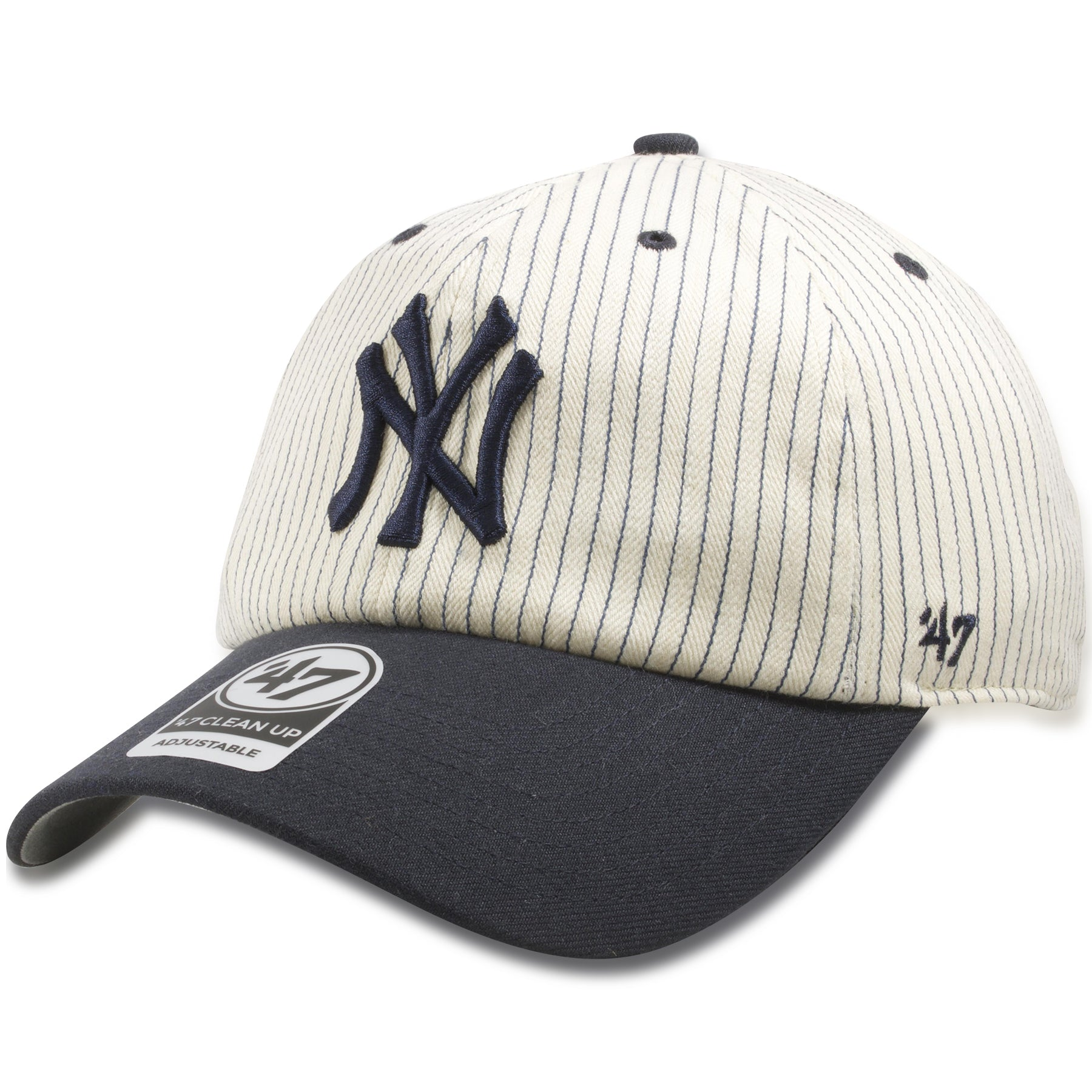 119a17ae196c2 New York Yankees Vintage Pinstripe Two Tone Dad Hat – Cap Swag