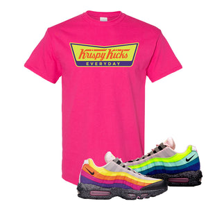 Airmax 95 '20 For 20' Sneaker Heliconia T Shirt | Tees to match Nike Airmax 95 '20 For 20' Shoes | Krispy Kicks