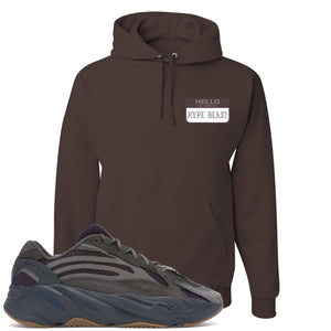 Yeezy Boost 700 Geode Sneaker Hook Up Hello My Name Is Hype Beast Pablo Brown Hoodie