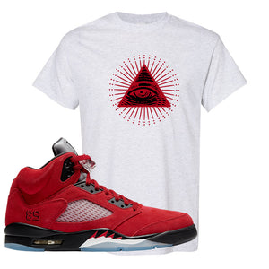 Air Jordan 5 Raging Bull T Shirt | All Seeing Eye, Ash