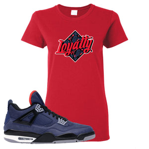 Jordan 4 WNTR Loyal Blue Loyalty Red Sneaker Hook Up Women's T-Shirt