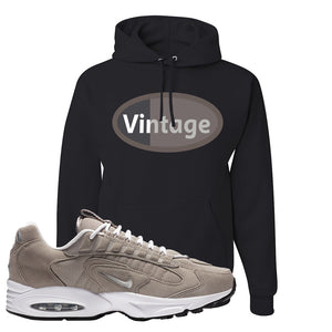 Air Max Triax 96 Grey Suede Hoodie | Vintage Oval, Black