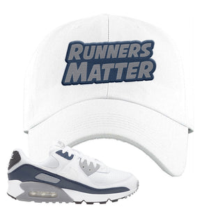 Air Max 90 White / Particle Grey / Obsidian Dad Hat | White, Runners Matter